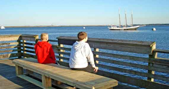 New Bench on the Fishing Pier | Camden Happenings